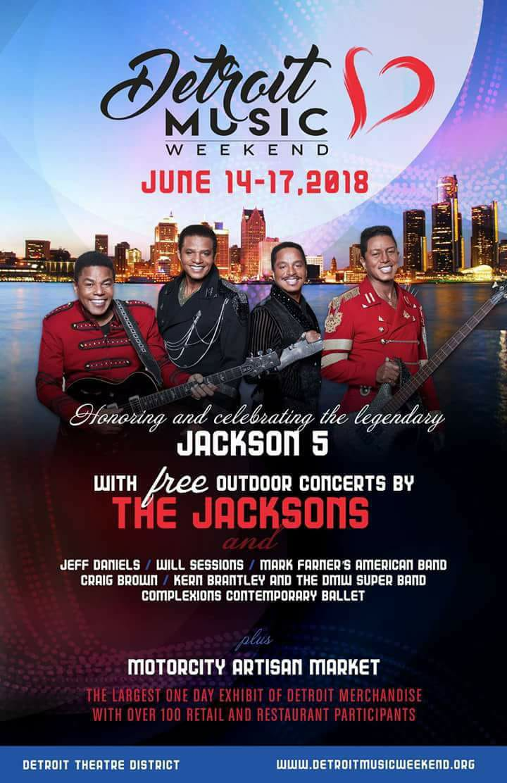 Ashton Moore performs at The Detroit Legends Tribute Concert-The Jacksons, 6/14